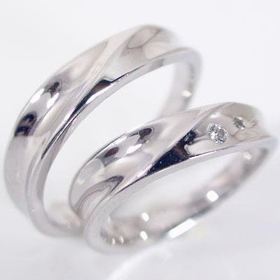 ペアリング 結婚指輪 マリッジリング プラチナ900 ダイヤモンド ペア2本セット Pt900 指輪 ダイヤ 0.03ct【送料無料】