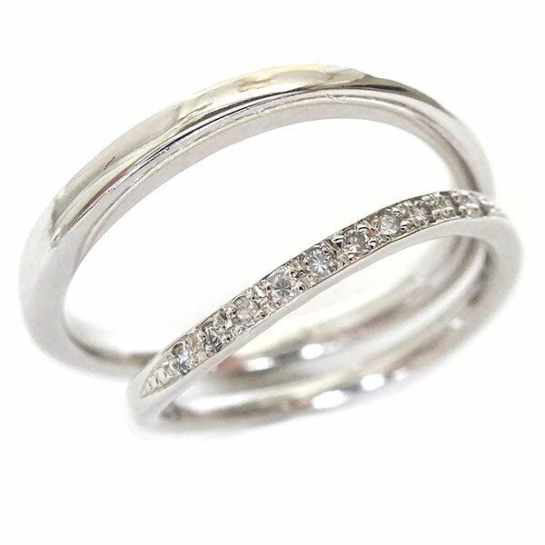結婚指輪 プラチナ マリッジリング ペアリング ダイヤモンド ペア2本セット Pt900 ダイヤ 0.06ct【送料無料】