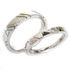 結婚指輪 マリッジリング シルバー ペアリング ダイヤモンド ペア2本セット SV925 ダイヤ ストレート【送料無料】