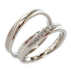 結婚指輪 プラチナ マリッジリング ペアリング ダイヤモンド ペア2本セット Pt900 ダイヤ【送料無料】