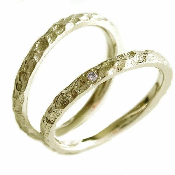 結婚指輪 マリッジリング ゴールドk10 ペアリング ダイヤモンド ペア2本セット K10yg【送料無料】