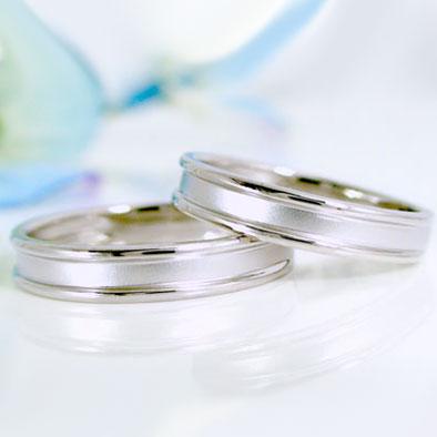 結婚指輪 ペアリング ホワイトゴールドk18 マリッジリング ペア2本セット K18wg 指輪【送料無料】