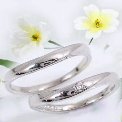ペアリング 結婚指輪 マリッジリング シルバー ダイヤモンド ペア2本セット SV925 指輪 ダイヤ 0.02ct