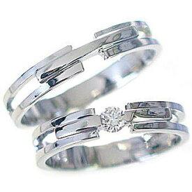 結婚指輪 ペアリング プラチナ マリッジリング ダイヤモンド ペア2本セット Pt900 指輪 ダイヤ 0.10ct【送料無料】