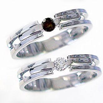 結婚指輪 マリッジリング ペアリング ダイヤモンド ブラックダイヤ ホワイトゴールドk10 指輪 ペア2本セット K10wg 指輪 ダイヤ 0.10ct ブラックダイヤ 0.10ct【送料無料】