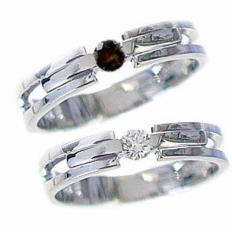 ペアリング 結婚指輪 マリッジリング ダイヤモンド ブラックダイヤ ホワイトゴールドk18 ペア レディース メンズ カップル 2本セット K18wg 指輪 ダイヤ 0.10ct ブラックダイヤ 0.10ct