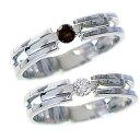 ペアリング 結婚指輪 マリッジリング ダイヤモンド ブラックダイヤ ホワイトゴールドk18 ペア レディース メンズ カッ…