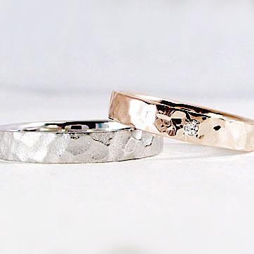 結婚指輪 ペアリング ピンクゴールド ホワイトゴールドk10 マリッジリング ダイヤモンド ペア2本セット K10 指輪 ダイヤ 0.01ct【送料無料】