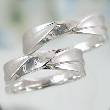 ペアリング 結婚指輪 マリッジリング シルバー ダイヤモンド ペア2本セット SV925 指輪 ダイヤ 0.02ct【送料無料】