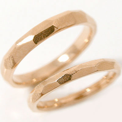 ペアリング結婚指輪:マリッジリング::ピンクゴールドk18:ペア2本セット/K18pg指輪