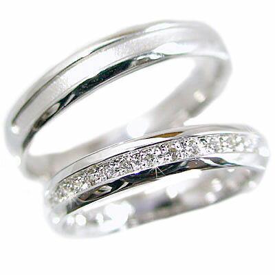 ペアリング 結婚指輪 プラチナ900 マリッジリング ダイヤモンド ペア2本セット Pt900 指輪 ダイヤ 0.10ct【送料無料】