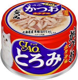 【訳あり】 いなば CIAO(チャオ) とろみ ささみ・かつお ホタテ味 猫用 80g
