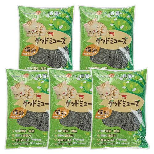 ニチドウ グッドミューズ 猫砂 3.9kg 5個