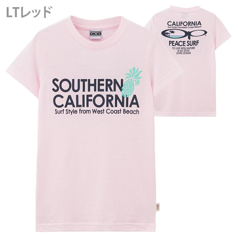 [全品対象10%OFFクーポン配布中]【レディース】Ocean Pacific(オーシャンパシフィック)サーフプリントTシャツ527-522 配送B