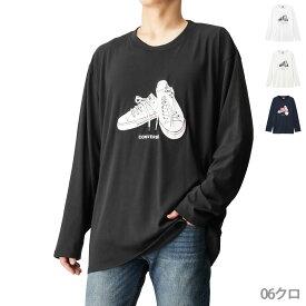 あす楽 あす楽 ロンT 長袖 ロングTシャツ プリントTシャツ クルーネック メンズ メンズファッション トップス カジュアル アメカジ ストリート おしゃれ CONVERSE コンバース 大きいサイズ ロングスリーブTシャツ 7460-0126KG