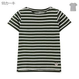 [0のつく日は5%OFFクーポン]あす楽 半袖Tシャツ 綿100% オーガニックコットン キッズ Tシャツ・カットソー トップス 子供 女の子 ボーダー Navy ネイビー オーガニック ボーダーTシャツ MH/OC595 春服 春夏
