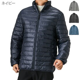 ダウンジャケット 中綿ジャケット はっ水 無地 スタンドカラー メンズファッション アウター 暖か 防寒 保温 フード無し カジュアル 通勤 通学 アウトドア 旅行 Navy ネイビー マックヒート スタンドジャケット 384101MH 冬服 冬物