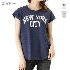 あす楽 半袖Tシャツ ドルマン ゆったり プリントTシャツ ロゴ クルーネック レディース レディースファッション Tシャツ・カットソー トップス ショート丈 シンプル カジュアル T-GRAPHICS ティーグラフィックス ドルマンTシャツ 88801NM 春服 春物