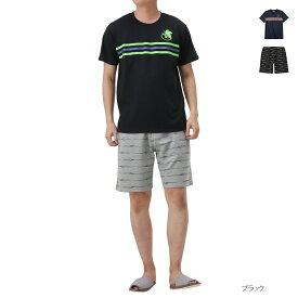 あす楽 ルームウェア 上下セット 半袖 Tシャツ ハーフパンツ 半袖Tシャツ 短パン メンズ ナイトウェア 部屋着 パジャマ EVANGELION エヴァンゲリオン 半袖セットアップ 032101MH 夏服 夏物
