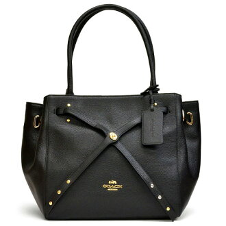 Coach /COACH turns Thailand small tote bag 35838 LIA45 (black x black)