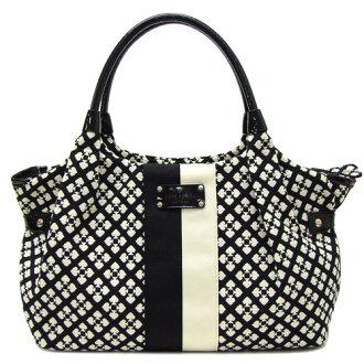 Kate Spade Classic Stevie Shoulder Bag Wkru1464 017 Black X Cream Outlet