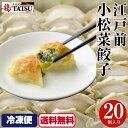 【送料無料】岩塩で食べる餃子 江戸川小松菜餃子 20個入り 二代目TATSU ニンニクなし にんにくなし ぎょうざ ギョウザ…