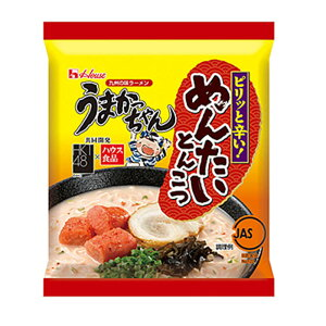 ハウス うまかっちゃん めんたいとんこつ 1人前 1袋 九州限定 袋麺 インスタント麺 カタ麺 とんこつラーメン 拉麺