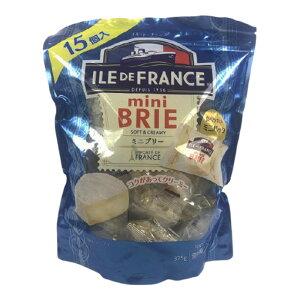 ILE DE FRANCE ミニブリーチーズ 1袋 25g×15個 チーズ ブリー 冷蔵 ブリーチーズ おつまみ おつまみチーズ アレンジ おやつ 料理 コストコ お取り寄せ