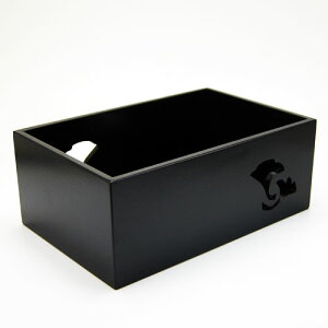 煙草盆 銀杏透し 黒 茶道具