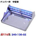 バイザー付ナンバー枠 中型用LEDブルー