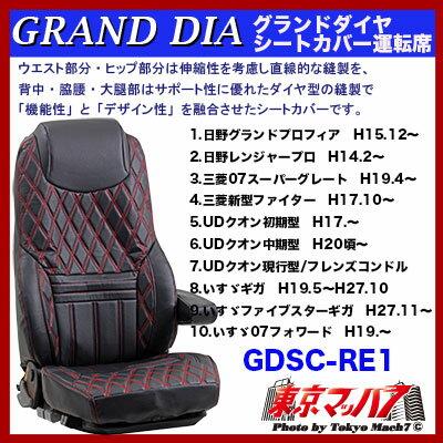 グランドダイヤ シートカバーブラック/赤糸