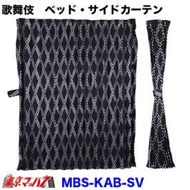歌舞伎サイドカーテン・真後ろカーテン シルバー 1000×750
