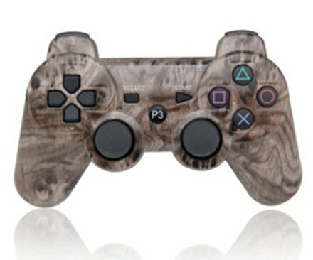【新品】【PS3HD】【海外製】ワイヤレスコントローラ互換brown Woodgrain【RCP】