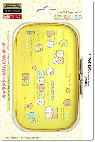 【新品】【3DSH】キャラクタースリムEVAポーチ for newニンテンドー2DSLLすみっコぐらし すみっコどんなコ?【RCP】[在庫品]
