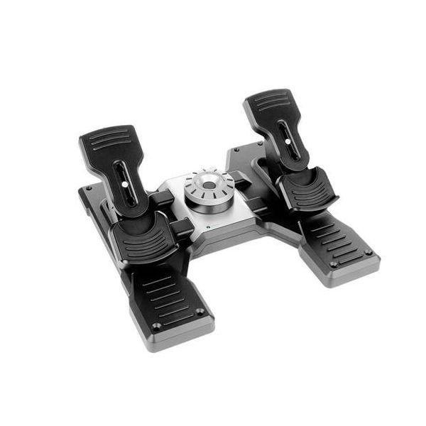 【即納可能】【新品】【PC】Logicool Flight Rudder Pedals (ロジクール トーブレーキ搭載 プロ ラダーペダル シミュレーション コントローラー) G-PF-RP【あす楽対応】【送料無料】【smtb-u】【RCP】