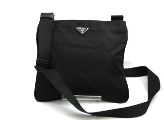 Nylon triangle logo NERO black black VA0053 27648 which there is no shoulder  bag gusset in at PRADA plastic Date soot bias 088fcb947962a