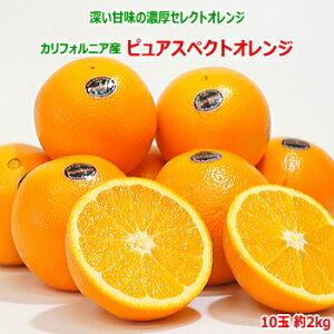 カリフォルニア産 ピュアスペクトオレンジ 10玉 約2kgネーブルオレンジ 高糖度 贈答用 ギフト 贈答 プレゼント内祝い 出産祝い フルーツギフト