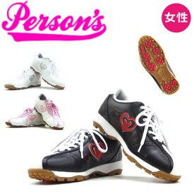パーソンズ レディース スパイクレスシューズ PGS2011 お買い得商品 22.5cm〜24.5cm ホワイト、ピンク、ブラック 女性用 ゴルフ靴 Persons Ladies shoes 20at