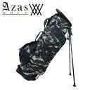 アザスゴルフ アニュー 6023 ANEW StandBag [desercamo] スタンド キャディバッグ (2.8kg / 9型) ユニセックス カモフラ柄 黒スタッズ…