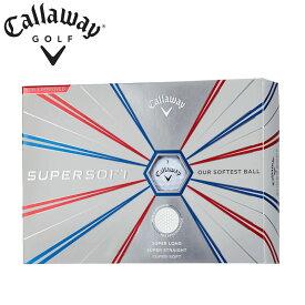 キャロウェイ SUPERSOFT スーパーソフト ゴルフボール 3ダースセット (36個入) 全2色 公認球 2019年モデル Callaway Golf Ball 3DZN 19ss
