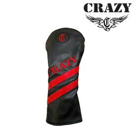 クレイジー ゴルフ ドライバー ヘッドカバー CRZ-HC CLA 2019年モデル 黒 赤 合皮レザー CRAZY Driver Head cover 19at