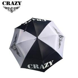 クレイジー アンブレラ ゴルフ用 傘 2019年モデル サイズ フリー 黒 ブラック 白 ホワイト CRAZY umbrella white black 19wn