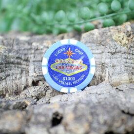 ラスベガス カジノチップタイプ ゴルフ ボールマーカー マグネットタイプ 磁石 オレンジ、ピンク、ブルー 18ss