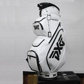 在庫あります PXG ゴルフ キャディバッグ ホワイト 9型 ゴルフバッグ 白 PARSONS XTREME GOLF GLACIER WHITE CART BAG 19au