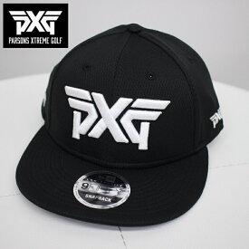 PXG GOLF NEW ERA ゴルフ フラットキャップ ブラック フリーサイズ 黒 帽子 パーソンズエクストリームゴルフ ピーエックスジー PARSONS XTREME GOLF