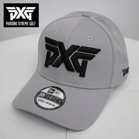 PXG GOLF NEW ERA ゴルフキャップ グレー SからMサイズ フレックスフィット 帽子 パーソンズエクストリームゴルフ ピーエックスジー PARSONS XTREME GOLF