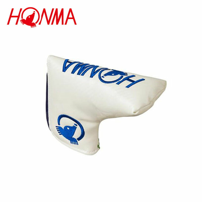 【2018年モデル】 本間ゴルフ HONMA ホンマ モグラ ヘッドカバー  パター用  PC-1810 ホワイト/ブラック/ブルー 【18ss】