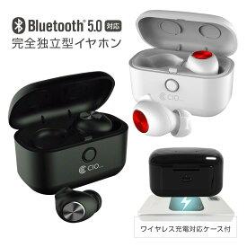 Bluetooth 5.0 イヤホン Qi ワイヤレス充電対応 完全ワイヤレス 両耳 片耳 マイク付き AAC ノイズキャンセリング 防水 左右独立型 ブルートゥース iPhone Android 左右分離型 ハンズフリー