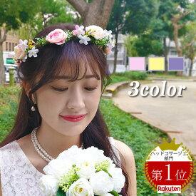 ebe90f54b21fa  メール便 送料無料 花冠 ヘッドドレス ヘアアクセサリー カチューシャ フラワークラウン アンティーク フラワー