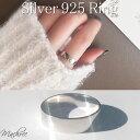 【メール便 送料無料】平打ち プレート リング silver925 4mm幅 シルバーリング 指輪 レディース ごつめ おしゃれ ラ…